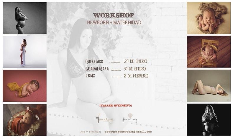 WORKSHOP DE FOTOGRAFIA NEWBORN Y MATERNIDAD EN MÉXICO